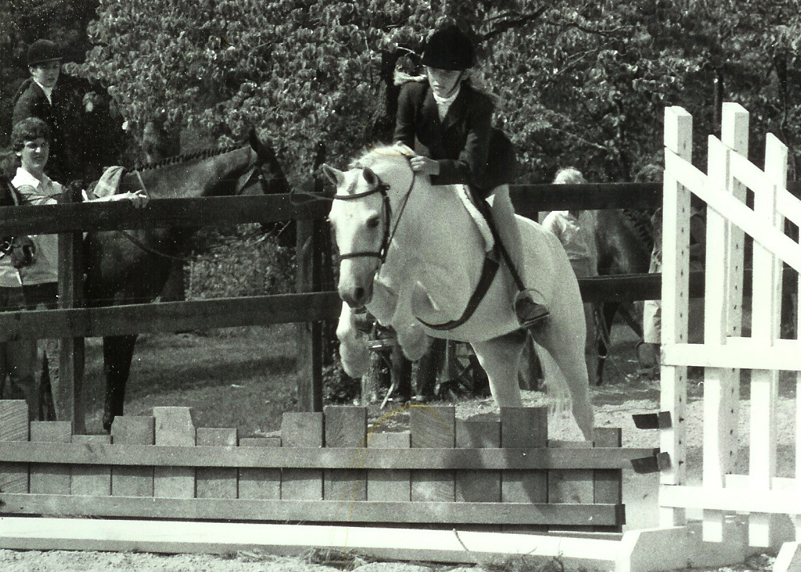 Crossroad's Bonny, ridden by Suzie Baley Lonas, 1980