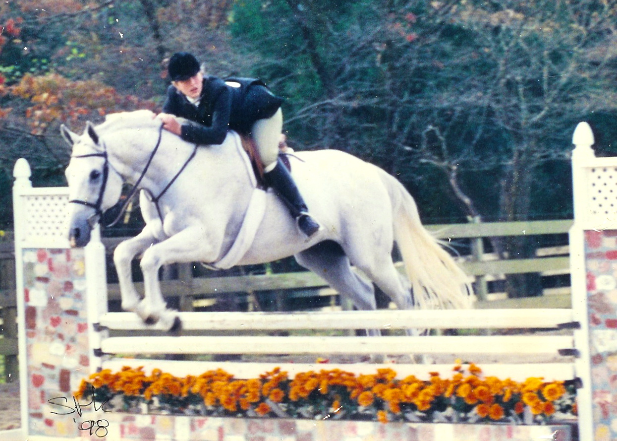Elise Goodson, at a Fiesta Farm horse show in 1998.