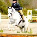 "Outta the Blue & C. Levi at their first ""A"" horse show, spring 2013."