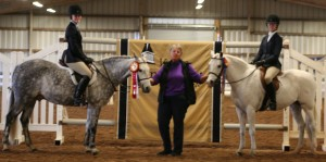 Champion and Reserve in the ETHJA pony medal finals 2012.  Carter Anderson & Cassie Donnell