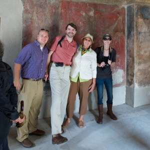 The Kuliasha, Priestap Family: Pompeii, Italy.  Michael, Susan, Cary & Jasmine.